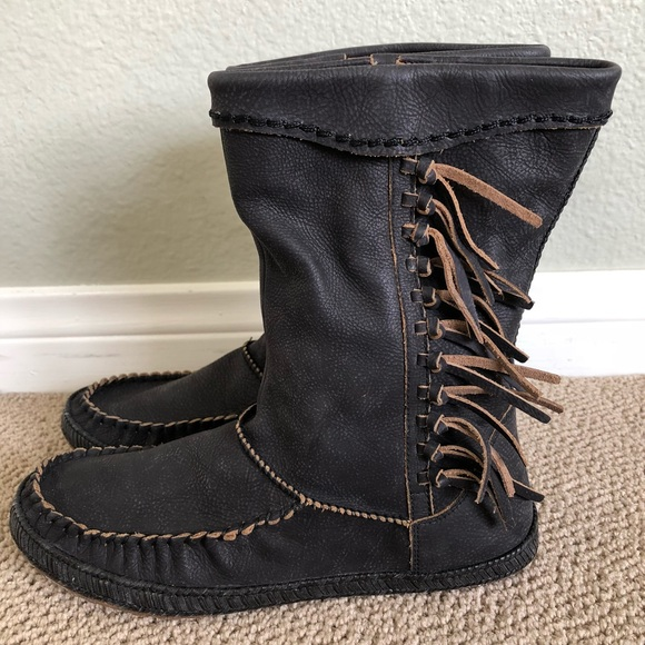 Womens Boots UGG Hyland Black Leather